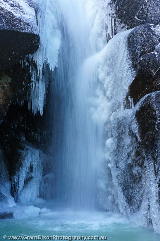 image of Ben Lomond frozen waterfall 2