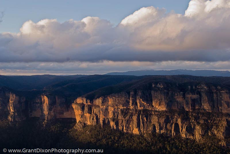 image of Grose valley sunset