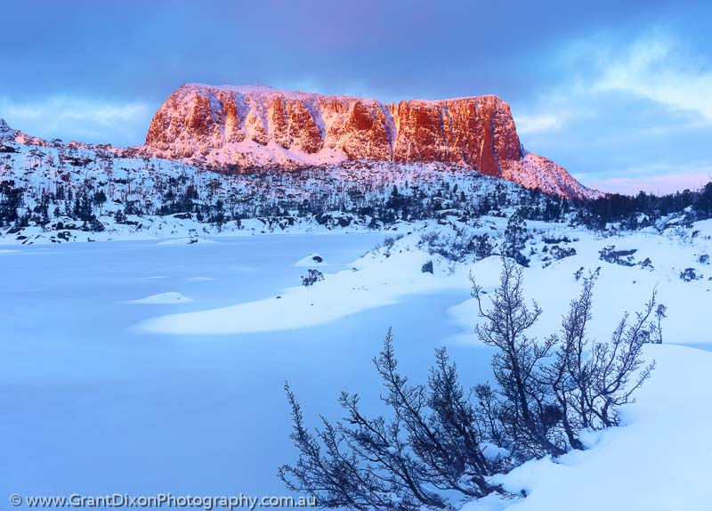 image of Acropolis winter sunset