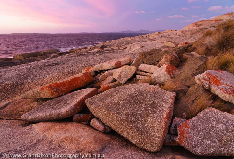 image of Trousers Point granite sunset