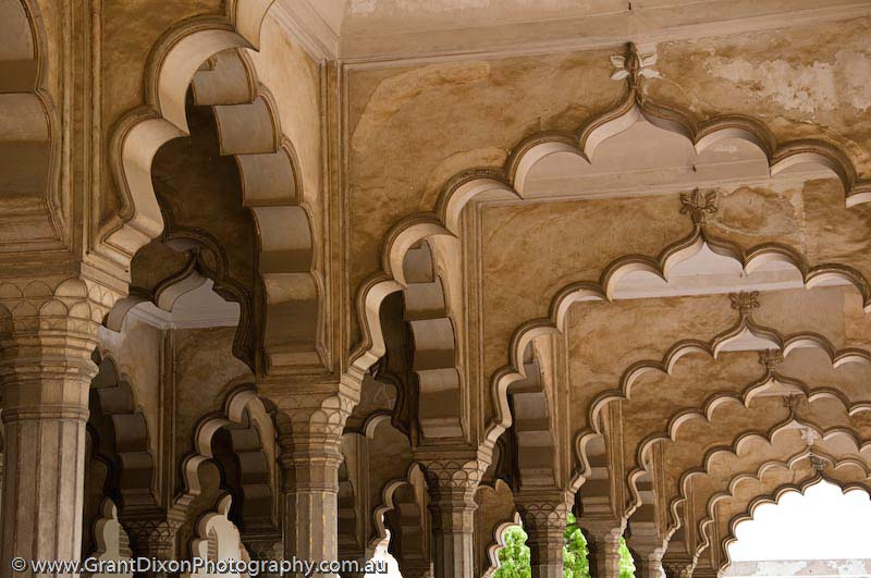 image of Agra Fort arches