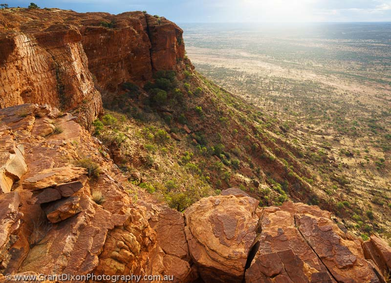 image of Watarrka sunset cliffs