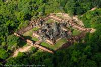 CAMBODIA, Siem Reap.  Ruin of Banteay Samre temple, Angkor. Aerial view from ultralight aircraft.