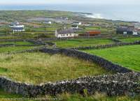 Stone walled fields, Inis Meain, Aran Islands, County Galway, Ireland