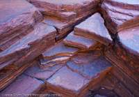Fractured Banded Iron Formation pavement, Dales Gorge, Hamersley Range, Karijini National Park, Western Australia.