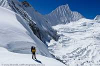 NEPAL. Fluted peak above Nare Glacier, Mingbo La, Sagamartha National Park.