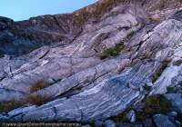 Glaciated gneiss outcrop, Hunter Mountains, Southland, New Zealand.