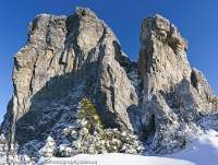 Frenchmans Cap in winter, Franklin - Gordon Wild Rivers National Park, Tasmanian Wilderness World Heritage Area.