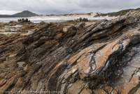 Folded rocks, Mulcahy Bay, Southwest National Park, Tasmanian Wilderness World Heritage Area